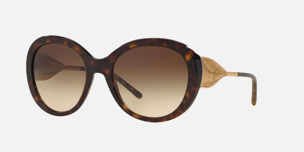 Burberry classic sunglasses with gold spectacle frame ...