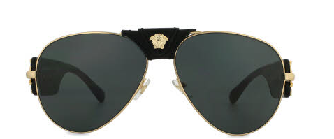 Front of Side of Versace Medusa men's sunglasses