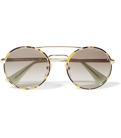 replica mens prada sunglasses cheap  prada acetate gold tone round frame women's sunglasses