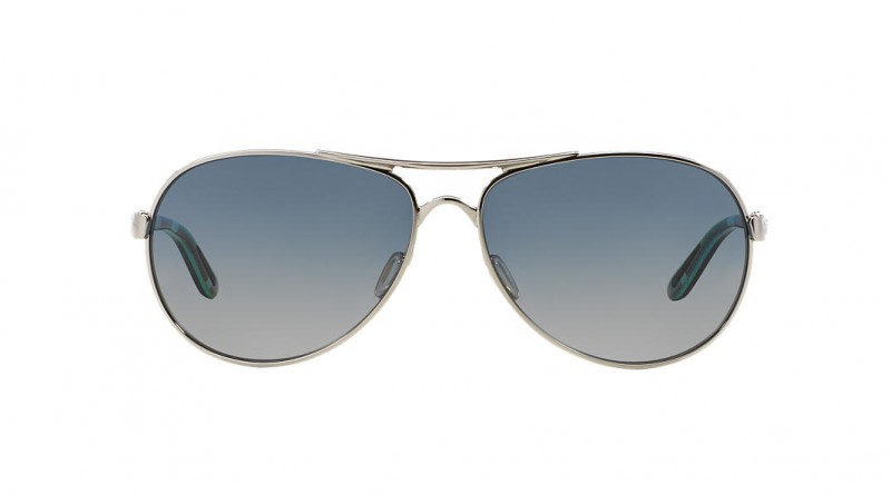 Front of Oakley Feedback grey sunglasses
