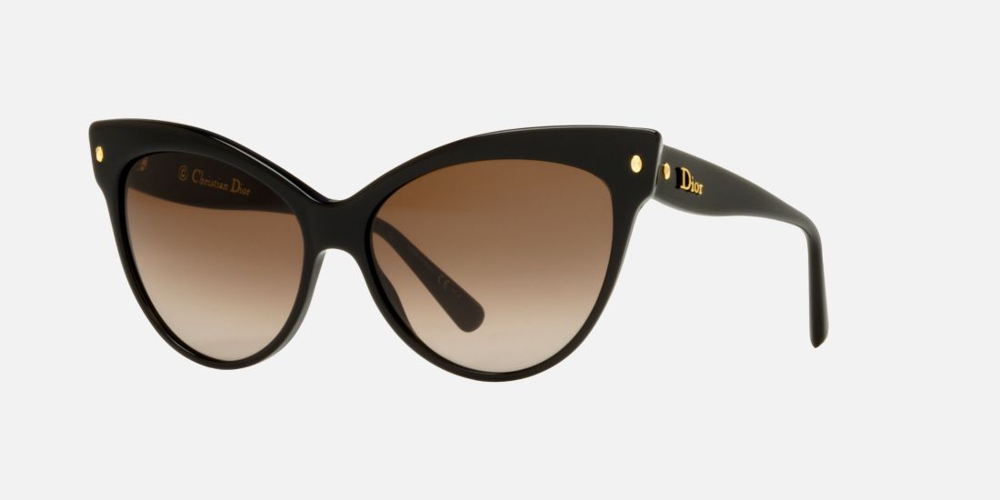 c3fabeb6f36a2 Dior Cat Eye Sunglasses With Logo On Temple
