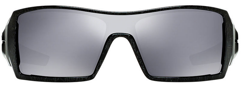 Front of Oakley Oil Rig Silver Men's Sunglasses
