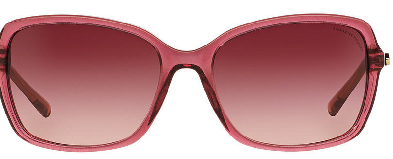 Front of Coach pink sunglasses for fashion lady
