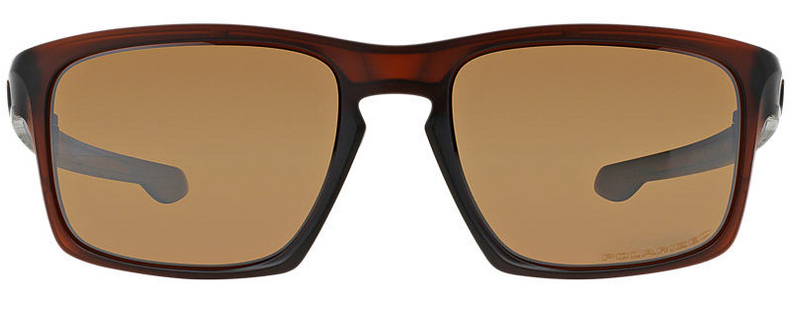 Front of Oakley Sliver-F brown sunglasses