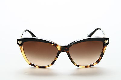 Front of Versace gradient lenses leopard print sunglasses
