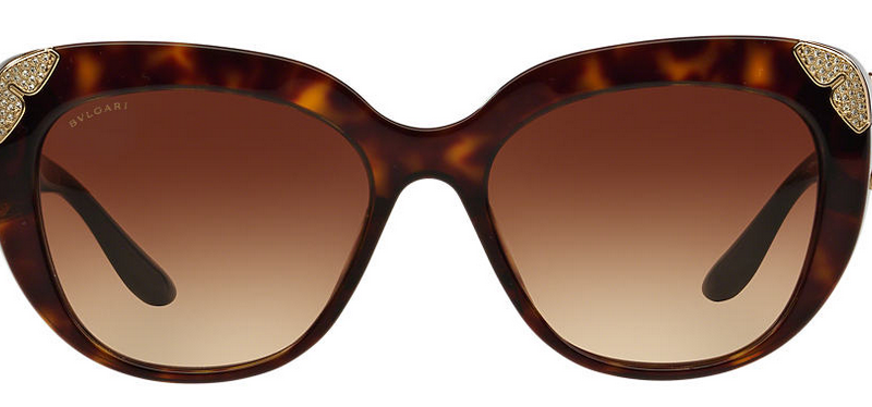 Bvlgari leopard print frame cat eye sunglasses
