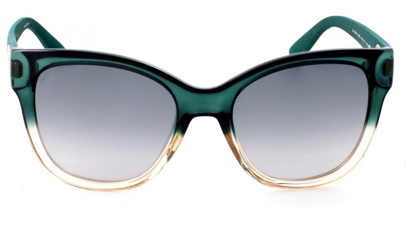 Gucci green and crystals square sunglasses