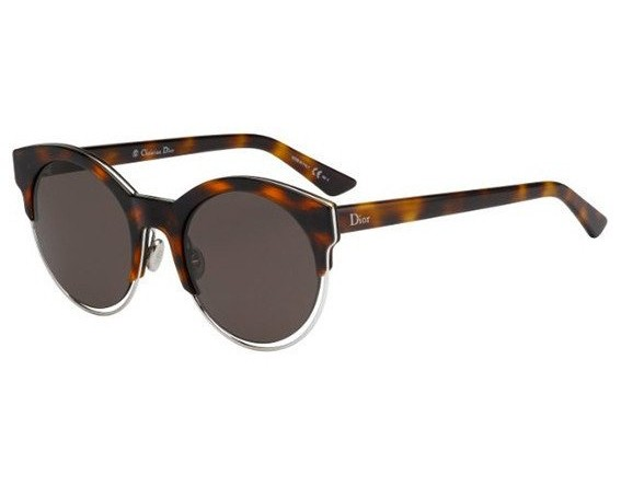 Side of Dior Sideral1 grey lenses round sunglasses