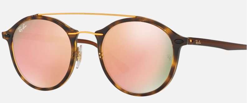 Ray Ban Tech Leopard Print Frame Gradient Lenses Round
