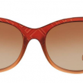 Burberry red frame gradient lenses square sunglasses