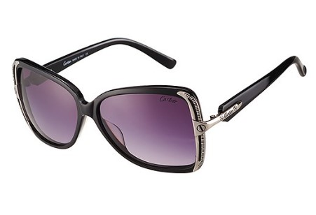 Cartier Black Frame Grey Lenses Sunglasses