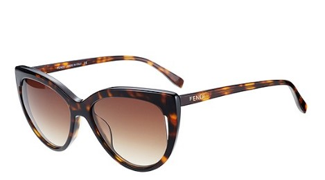 Fendi Cat Eye Retro Havana Sunglasses