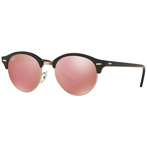 Side of Ray-Ban Clubround Black Cherry Blossom sunglasses 02