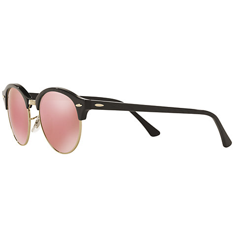 Side of Ray-Ban Clubround Black Cherry Blossom sunglasses