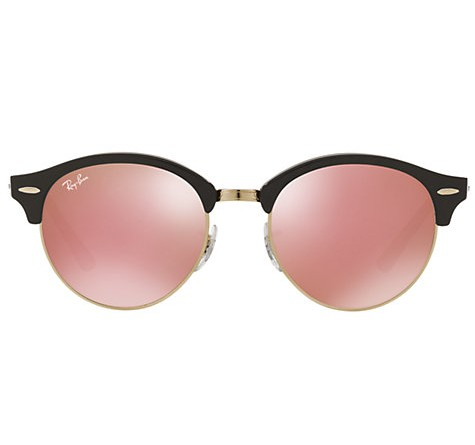 Front of Ray-Ban Clubround Black Cherry Blossom sunglasses