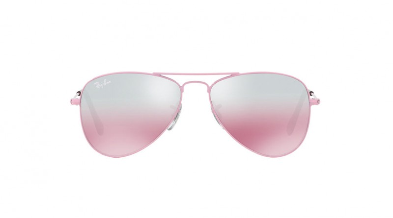 Front of Ray-Ban Aviator pink lenses sunglasses