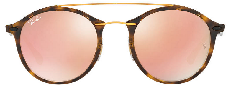 Ray-Ban leopard print frame sunglasses