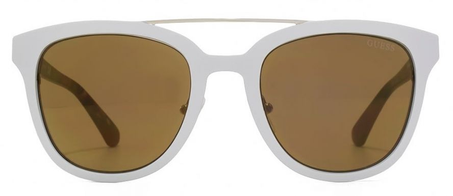 guess metalbrow sunglasses in white